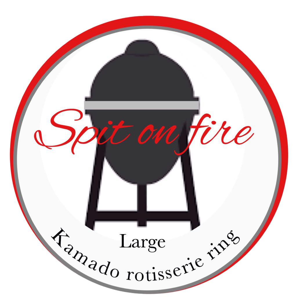 Kamado rotisserie - Spit on fire